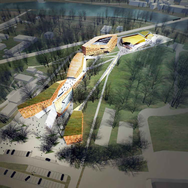 FAAB Architektura lucha contra el smog en Cracovia con su propuesta para una Academia de Música, Cortesía de FAAB Architektura