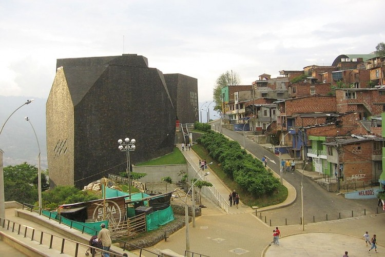 """Spain Library Park, Colombia, Medellín / Photo: en.wikipedia.org"". Image Courtesy of Strelka Magazine"
