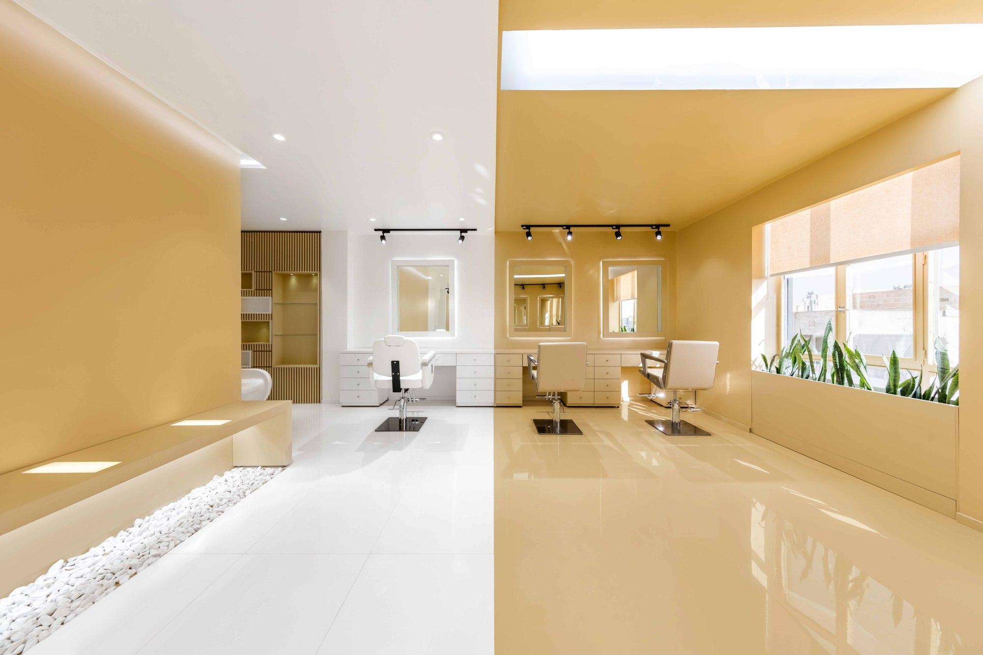 Gallery of shokrniya beauty salon 4 architecture studio 5 for A b beauty salon houston