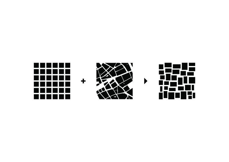 The Budapart Distorted Grid Ccombines the Qualities of the Regular Grid with the Qualities of the Irregular Historic Budapest Urban Fabric. Image Courtesy of ADEPT Architects
