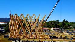 Mira cómo avanza la (re)construcción del Pabellón de Chile en la Expo Milán 2015 en Temuco