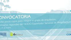 Convocatoria para NODO Exportador Servicios de Arquitectura