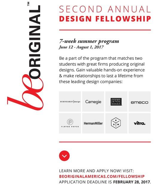 Be Original Americas Student Design Fellowship
