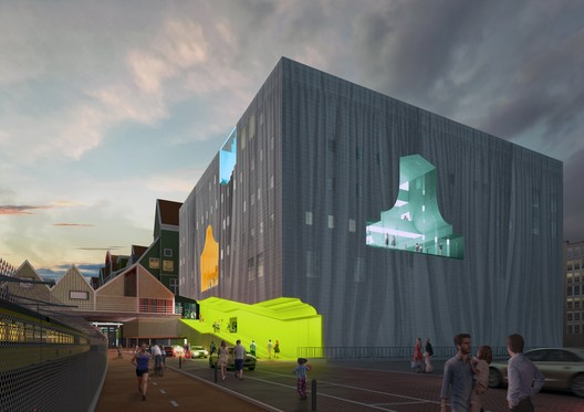 Soar Through MVRDV's Competition-Winning Zaanstad Cultural Center Design