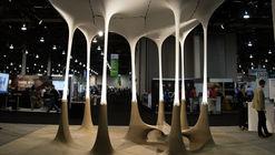 'Pabellón del Diseño Generativo' de Autodesk reproduce procesos de fabricación con piedra y textiles