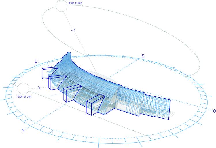 Estudio solar. Image Cortesía de Equipo Tercer Lugar