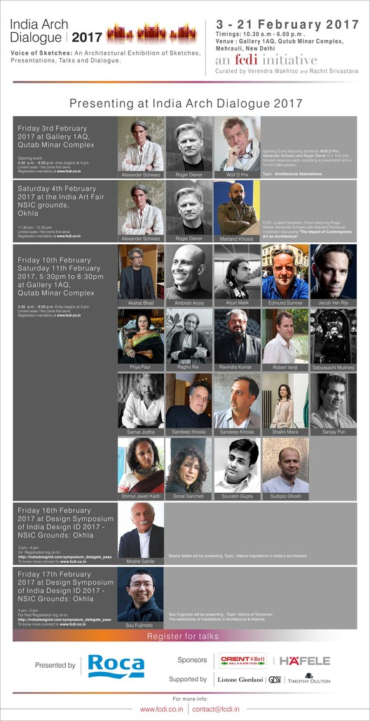 India Arch Dialogue 2017, India Arch Dialogue 2017 Schedule