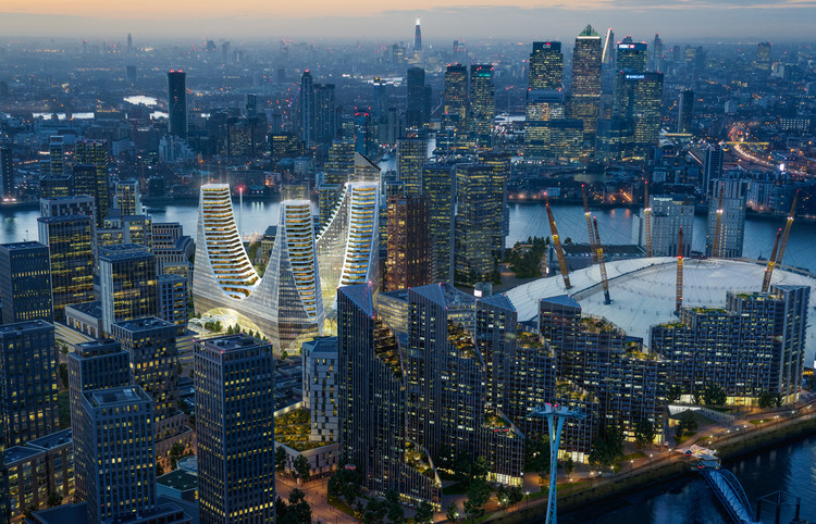 Santiago Calatrava Reveals £1 Billion Mixed-Use Project in London, © Uniform