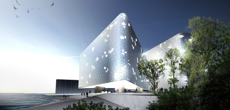 Snøhetta Wins Competition for Ice-Inspired Hotel on Helsinki's Waterfront, © Snøhetta