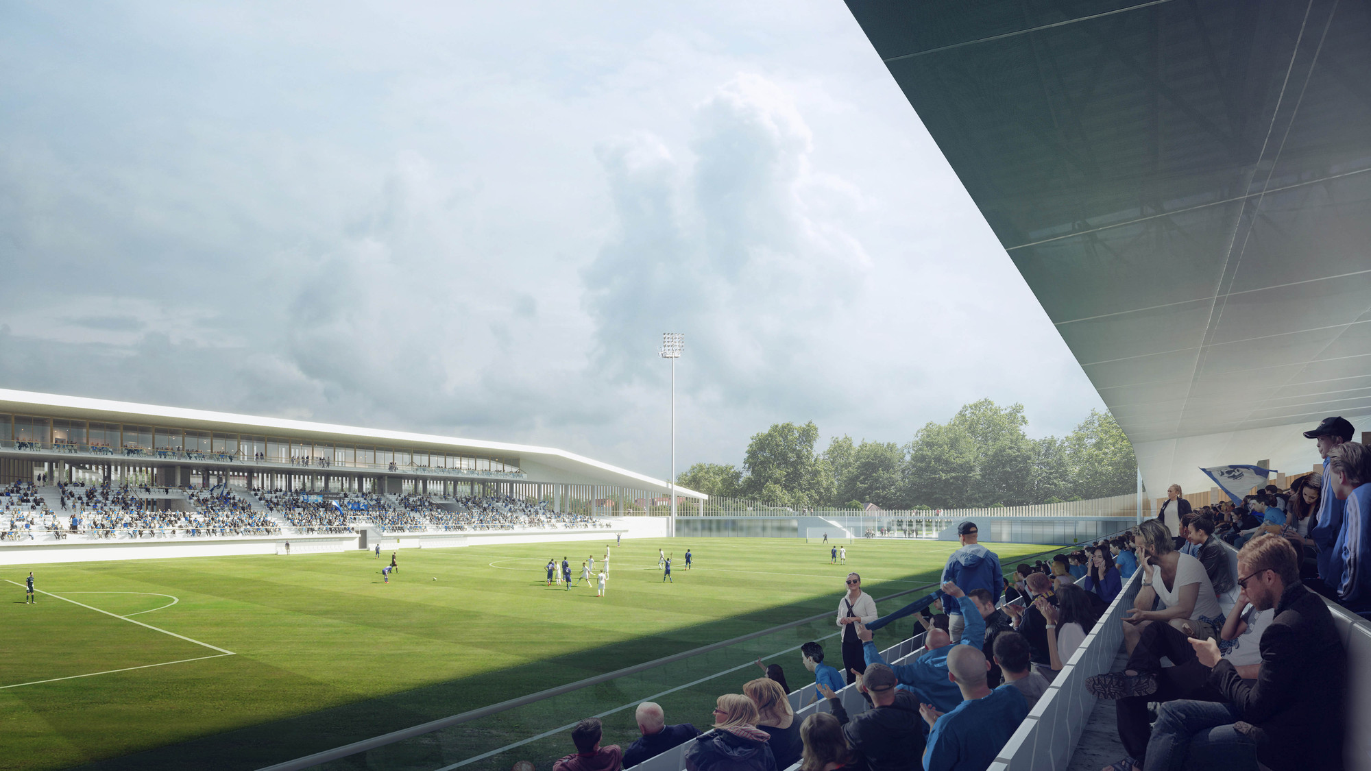 Gallery of Competition Winning Stadium Design Promotes ...