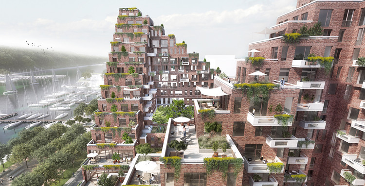 AART to Revitalize Aarhus Port District with Terraced, Mixed-Use Complex, © AART Architects