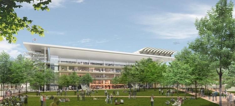 Así se construirán paso a paso los nuevos estadios de Roland Garros, Court Philippe Chatrier. Imagen © FFT / Arquitectos: ACD Girardet and Associates / Daniel Vaniche and Associates / Visualización a cargo de 3dfabrique