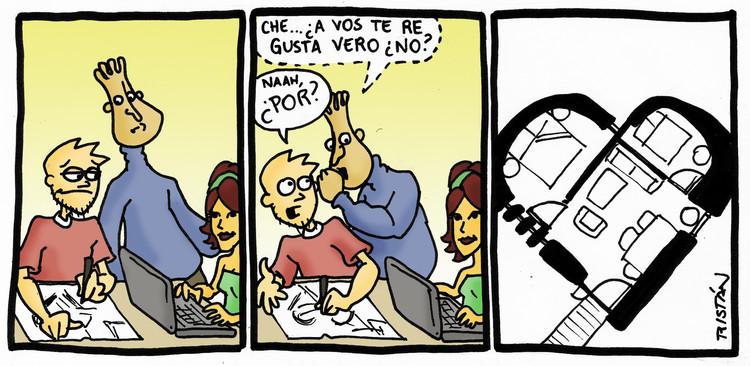El amor en el estudiante de arquitectura: tiras humorísticas por Tristán Comics, Cortesía de Tristán Comics