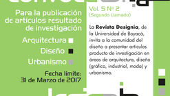 Segundo Call for Papers: Revista Designia Vol. 5