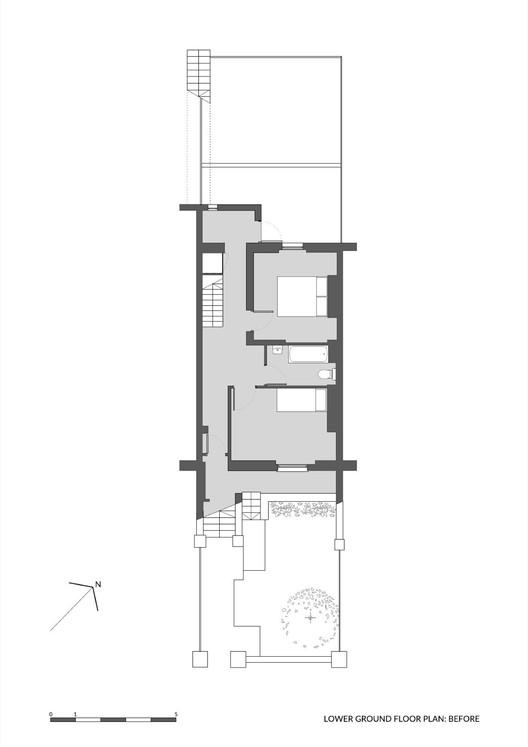 Lower Ground Floor Plan Before