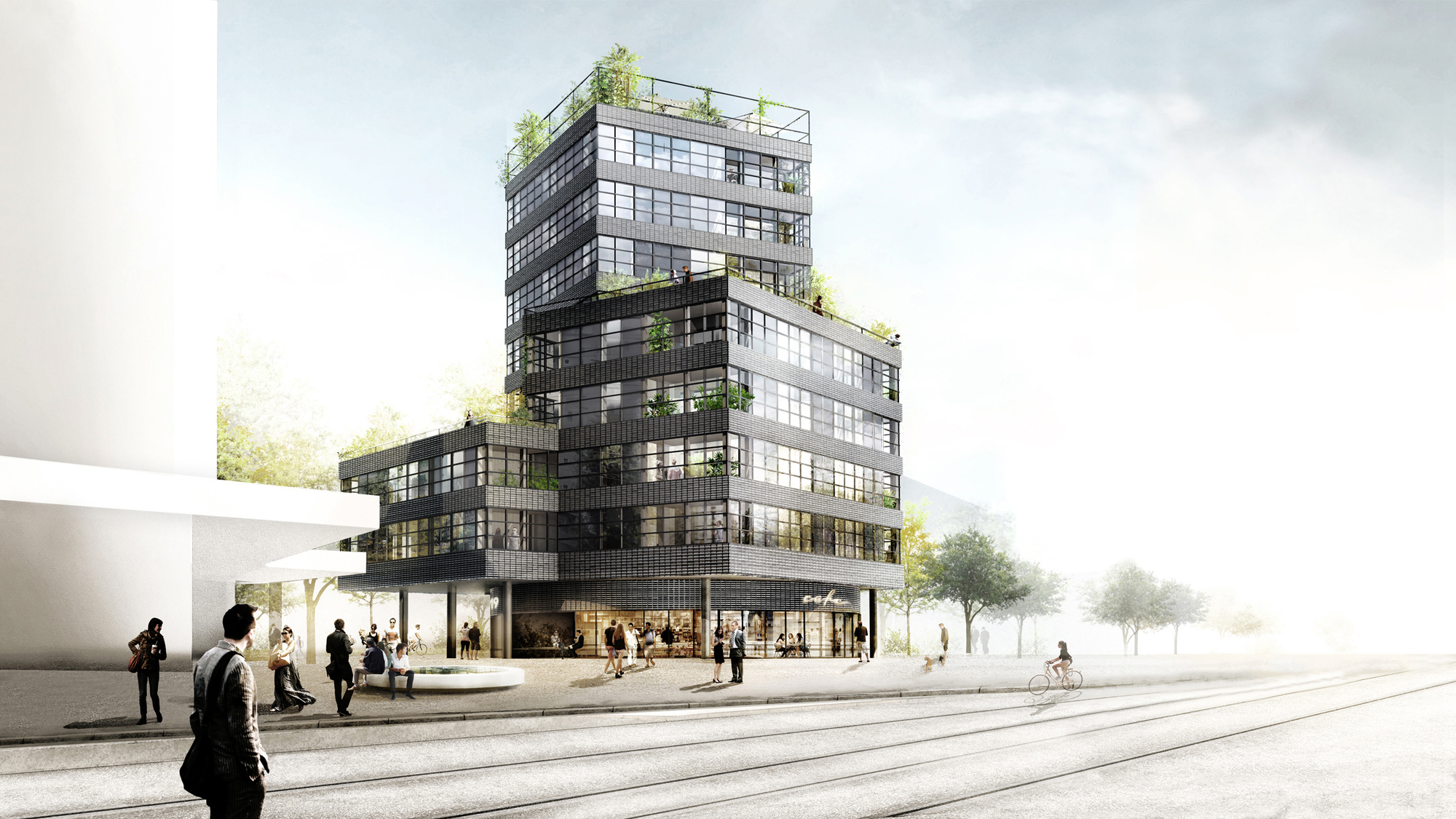 Hhf architects westpol win switzerland apartment tower for Architecture suisse