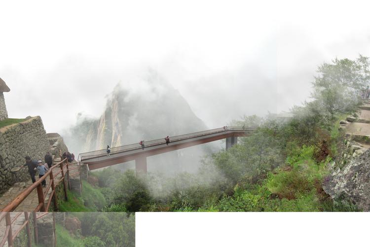 Arquitectura en Machu Picchu, tres proyectos en el paisaje, Cortesía de VISTA PREVIA y LLONAZAMORA