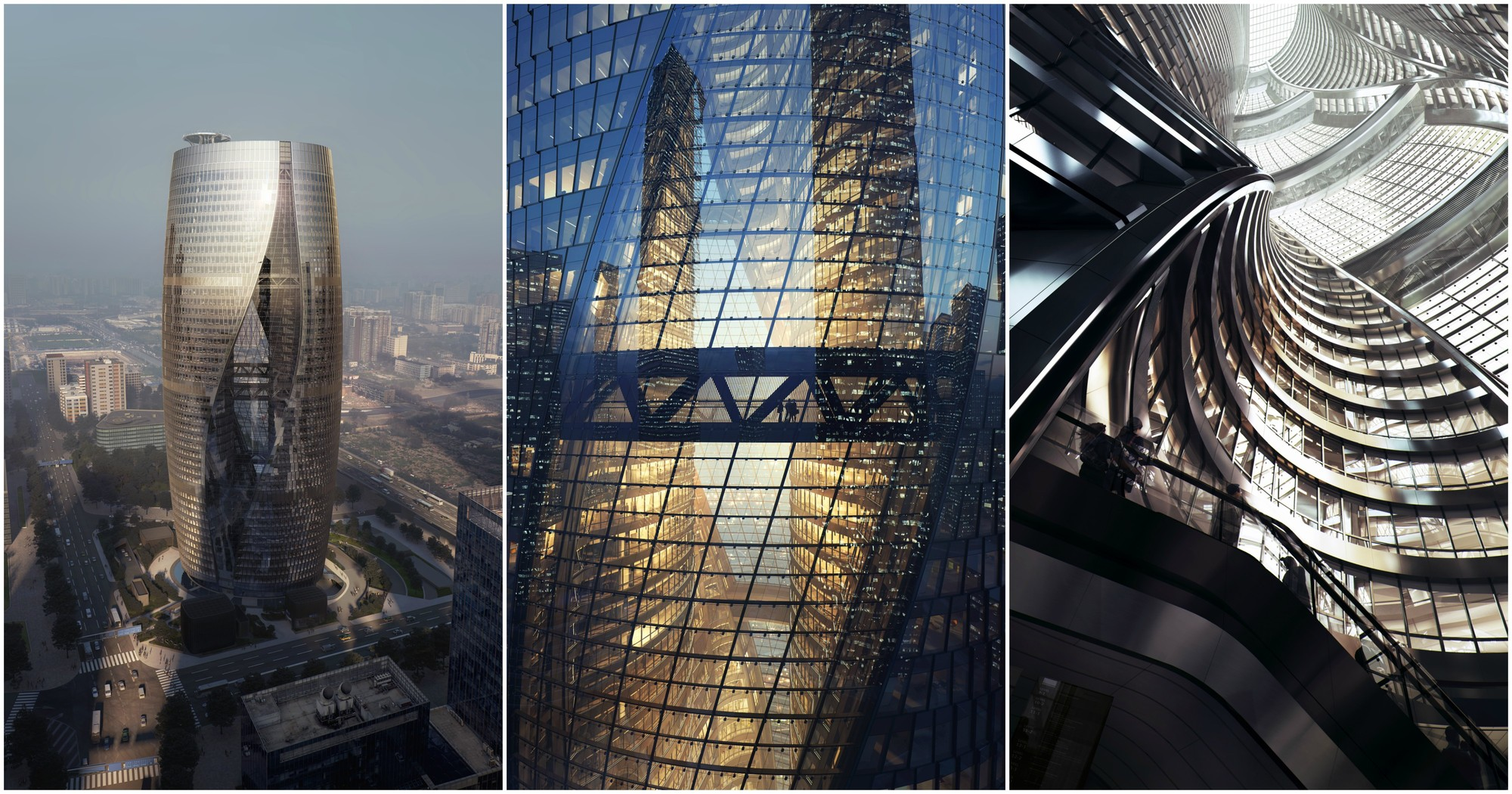 zaha hadid architects releases images of tower with the world 39 s tallest atrium archdaily. Black Bedroom Furniture Sets. Home Design Ideas