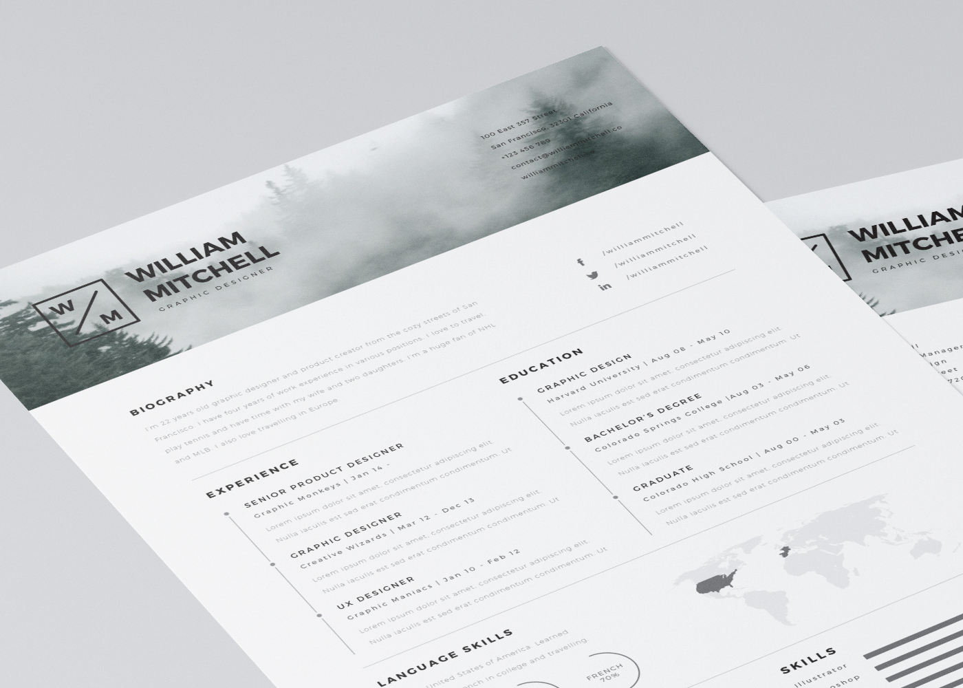 Resume Template Indesign 152 Best Graphics Images On Pinterest  Architects Curriculum And