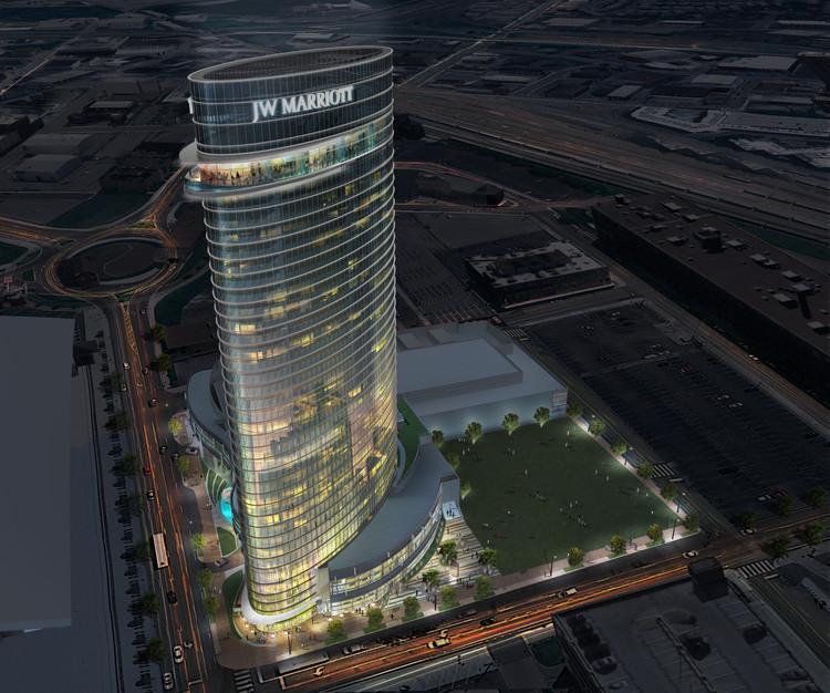 Arquitectonica's Undulating Hotel Tower to Be Nashville's Lastest Landmark, © Arquitectonica