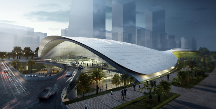 Farrells unveils design for high speed railway terminus in for Architecture firms in singapore