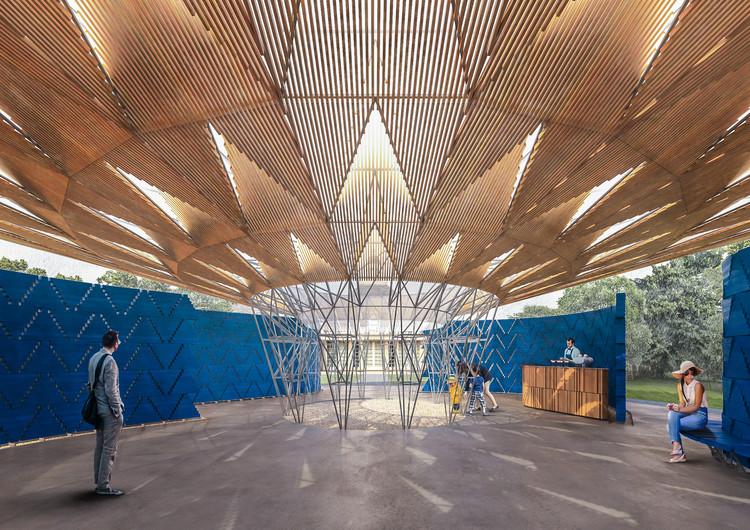 Francis Kéré to Design 2017 Serpentine Pavilion, Serpentine Pavilion 2017, Designed by Francis Kéré, Design Render, Interior. Image © Kéré Architecture