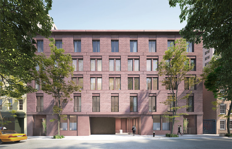 David Chipperfield's West Village Apartment Complex Finally Given Greenlight, Rendering of the latest proposal. Image via LPC Review Materials