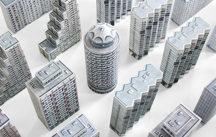 Maquetas de papel de los más controversiales edificios levantados detrás de la 'Cortina de Hierro', Brutal East. Image Cortesía de Zupagrafika