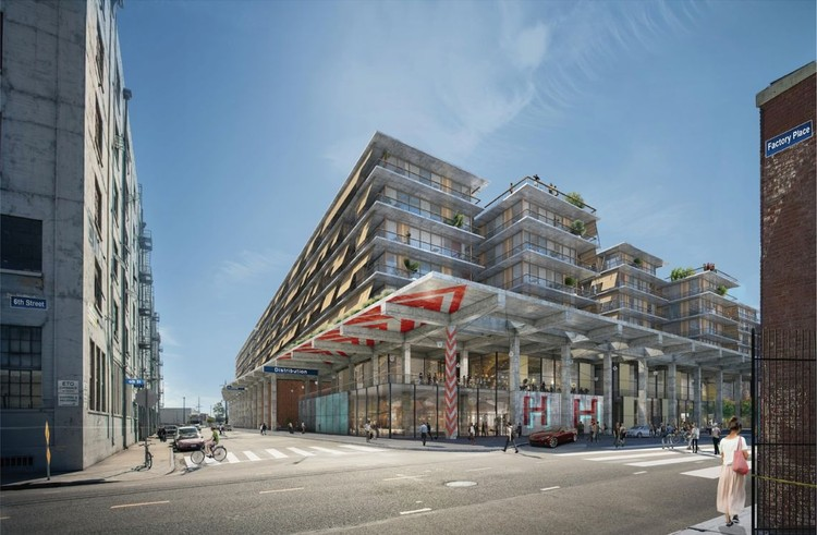 Herzog & de Meuron to Complete $2 Billion Development in Los Angeles' Arts District, View from the street. Image Courtesy of Los Angeles Department of City Planning