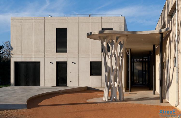 Esta compleja columna de hormigón se construyó con encofrados impresos en 3D, © Lisa Ricciotti