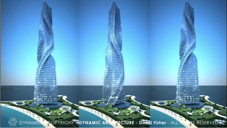 Dubai busca romper nuevos límites con este rascacielos que rota, Vía OfficialDynamicArch