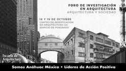 Foro de Investigación en arquitectura. Arquitectura y Sociedad.