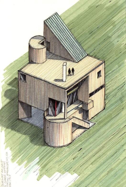 Gwathmey Study House / Charles Gwathmey / 1967 . Image Courtesy of Diego Inzunza - Estudio Rosamente