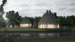 Inflatable ETFE Roofs Give This Resort its Pinecone-Like Forms