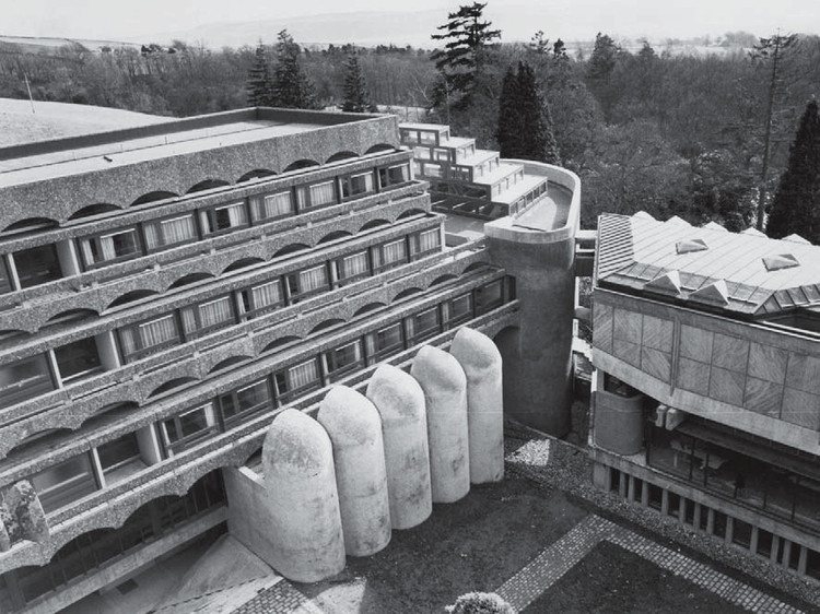 St Peter's Seminary in Cardross, Scotland, by Gillespie Kidd and Coia, here shown in its original state. Image Courtesy of GKC Archive