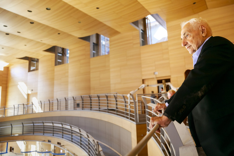frank gehry discusses the design behind his recently completed concert hall in berlin archdaily. Black Bedroom Furniture Sets. Home Design Ideas