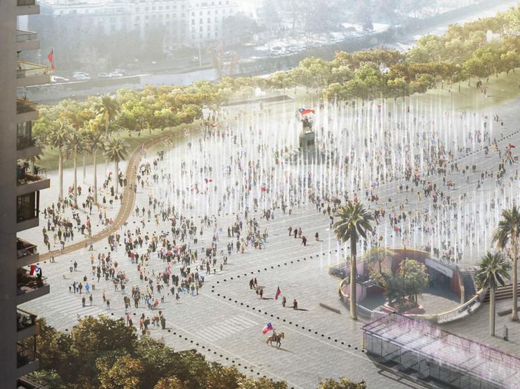 Paseo Civico Metropolitano Alameda Providencia Corridor / Groundlab + LyonBosch+Martic (Santiago, Chile). Image Cortesía de Landscape as Urbanism in the Americas