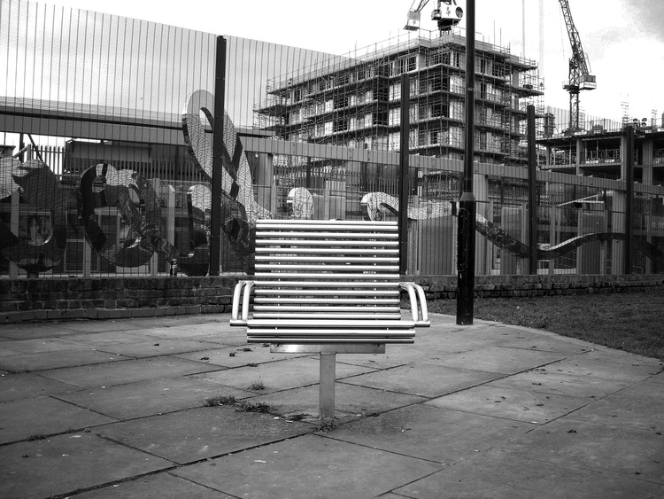 East India bench, London. Image Courtesy of James Furzer