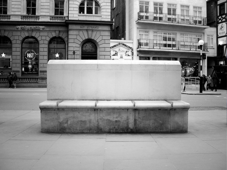 Bench outside the Royal Courts of Justice, London. Image Courtesy of James Furzer