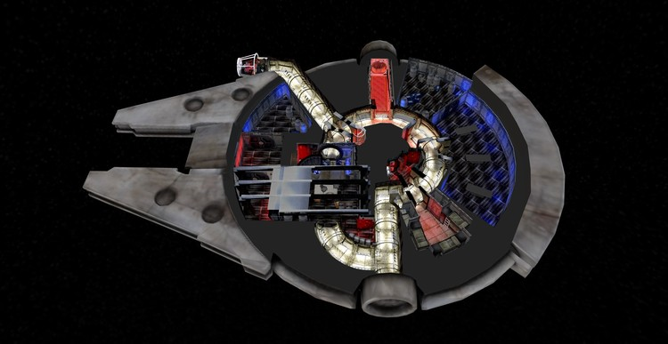 "Take a Virtual ""Fly-Through"" of the Star Wars Millennium Falcon With This 3D Model, Courtesy of Archilogic"