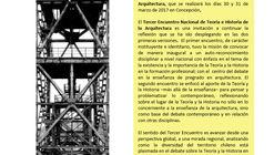 Tercer Encuentro Nacional de Teoría e Historia de la Arquitectura