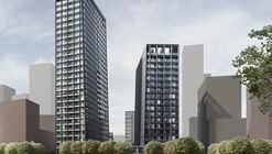 Alison Brooks Architects Designs First London Highrise for Greenwich Peninsula Development