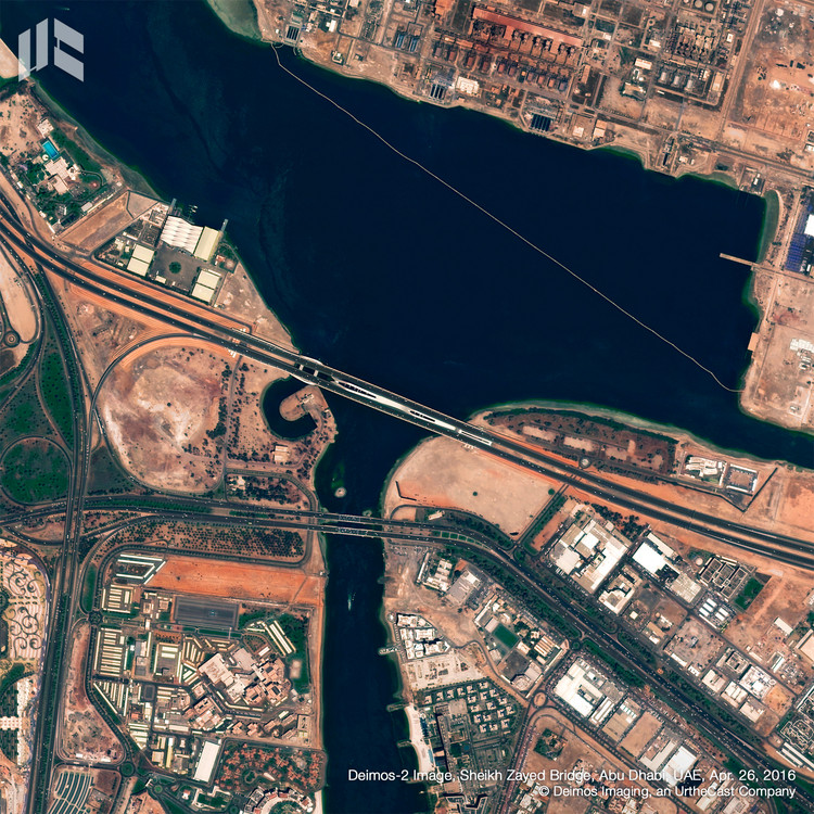 Sheikh Zayed Bridge. Image © Deimos Imaging