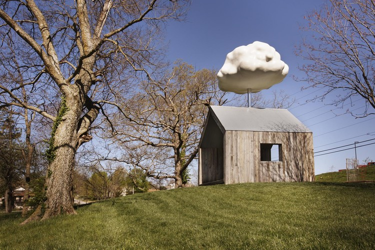The Cloud House promotes quiet reflection and meditation. Image Courtesy of Matthew Mazzotta