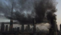Dramatic Fire Breaks Out Near Burj Khalifa the World's Tallest Building