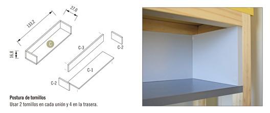 Módulo 2 / Mueble Superior Repisa