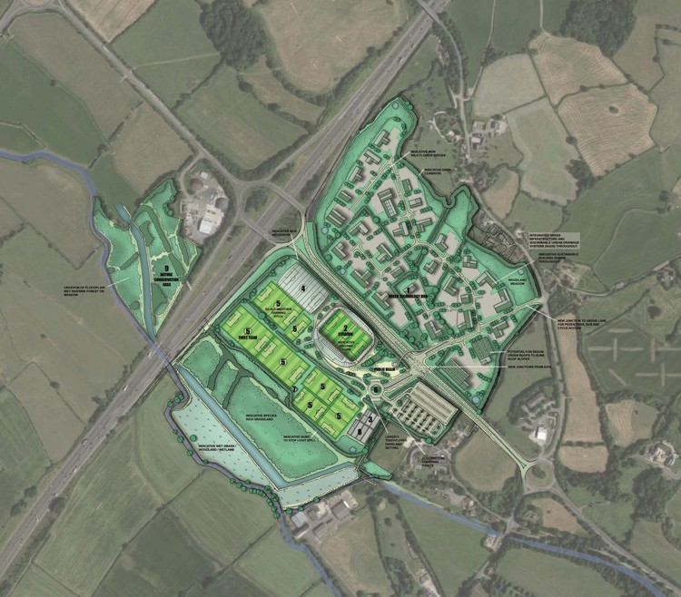 An early concept plan for the site. Image Cortesia de Ecotricity