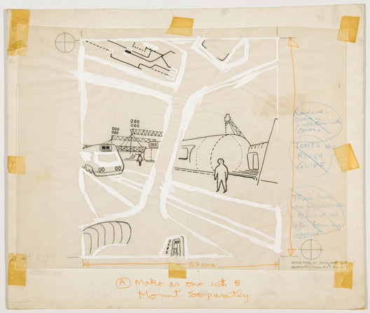 """Cedric Price's """"Potteries Thinkbelt"""" project. Image Courtesy of Canadian Centre for Architecture"""