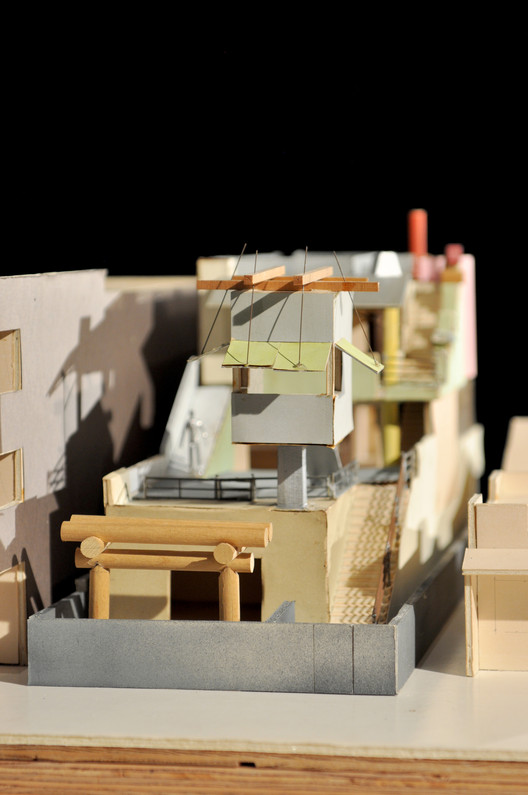 Frank Gehry, Norton House, Model, 1982-1984; Veneza, Califórnia; Frank Gehry Papers no Instituto de Pesquisa Getty, © Frank O. Gehry