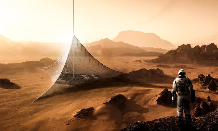 Genesis Mars Skyscraper / Arturo Emilio Garrido Ontiveros, Andrés Pastrana Bonillo, Judit Pinach Martí, Alex Tintea. Cortesia de eVolo